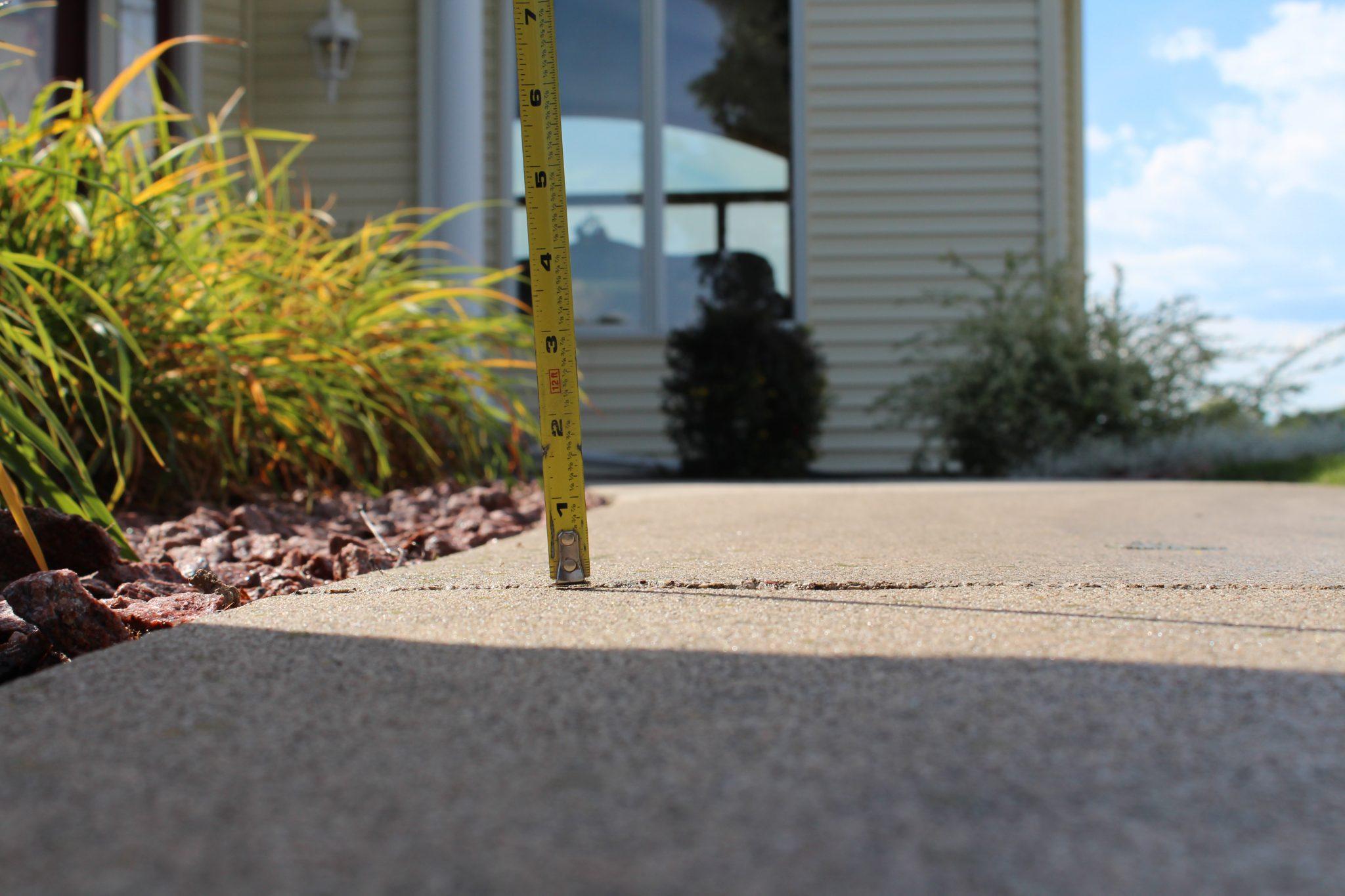 fixed uneven sidewalk - Foamjection